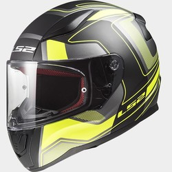 LS2 FF353 Rapid Carrera svart/Hi-Vis gul