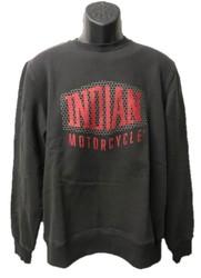 Indian Shield Logo sweatshirt herr mörkgrå