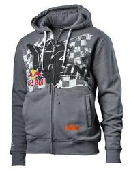KTM Overspray Zip Hoodie Grå