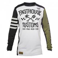 Fasthouse Hawk tröja vit/svart/grön