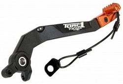 Torc1 Motion Bromspedal sv/orange, KTM 05-15 450 EXC-F/450 SX-F, 05-16 250