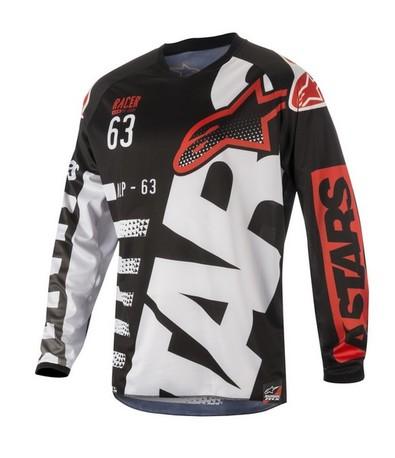 Alpinestars Racer Braap tröja svart/vit/röd