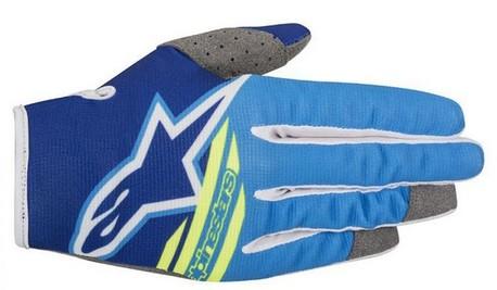 Alpinestars Radar Flight blå/fluo gul handske