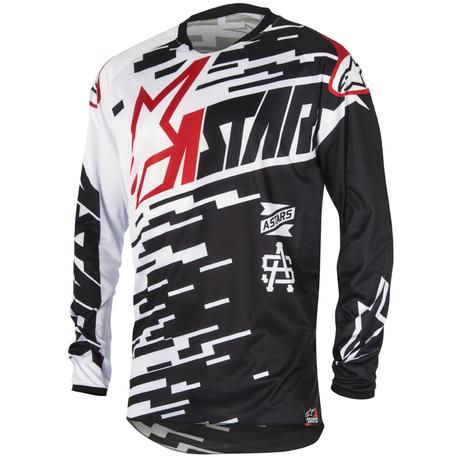 Alpinestars Racer Braap tröja svart/vit