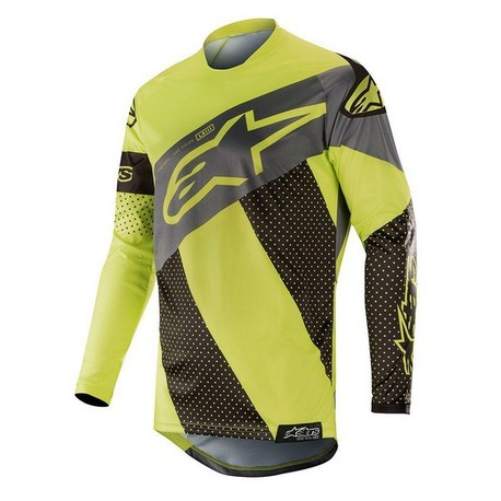 Alpinestars Racer Tech Atomic tröja svart/fl gul/grå