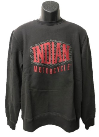 Indian Shield Logo sweatshirt herr mörkgrå