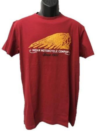 Indian Hand-Painted t-shirt herr röd