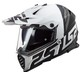 LS2 MX436 Pioneer Evo Evolve vit/svart matt