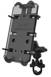 RAM Quick-Grip XL telefonhållare med U-bults bas för styre (B-kula)