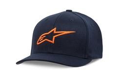 Alpinestars keps Ageless Curve, blå/orange